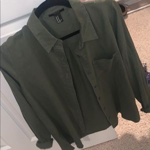 Army green flannel
